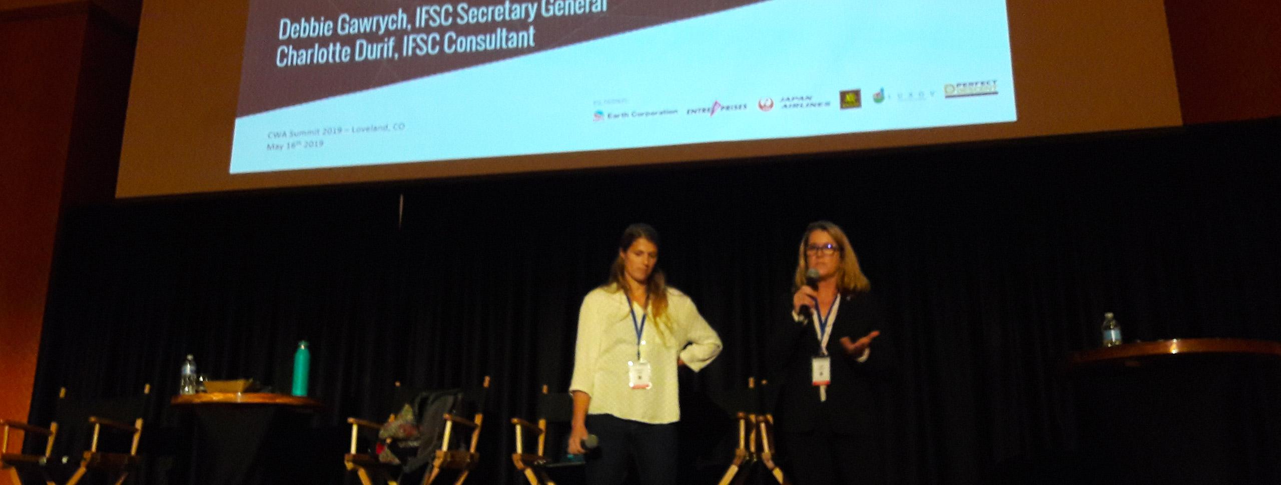 IFSC Presents Olympic Engagement Project at the CWA Summit, USA
